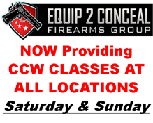 Equip2Conceal, CCW Class, Gun Show, Denver, Loveland, Greeley, Colorado Springs, Longmont, Colorado