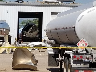 Propane truck explosion in Commerce City