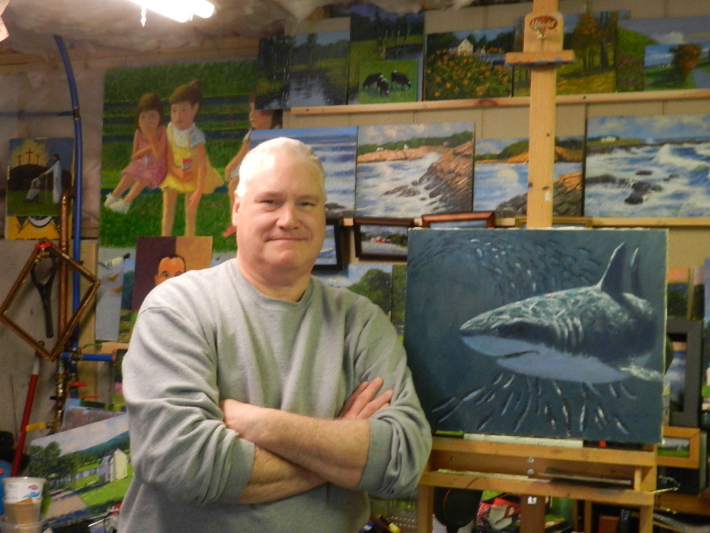 A photo of the artist Don Jalbert in his studio.