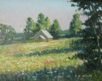 Late Summer Sun  11 x 14 oil on panel sold