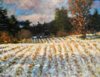 Fall Furroughed Fields oil on panel 11 x 14