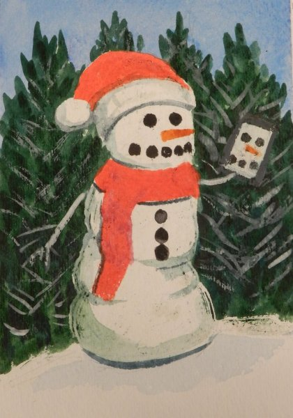 Snow Person takig a selfie