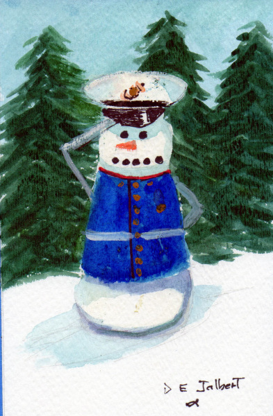 A snowman who is a Marine