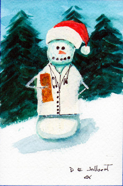 A Snow Person in the medical field