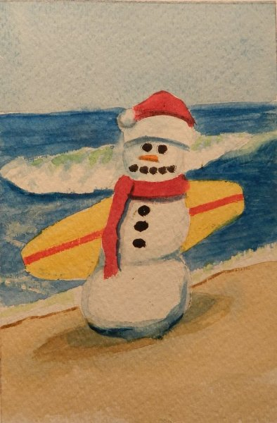 A Snow person surfer