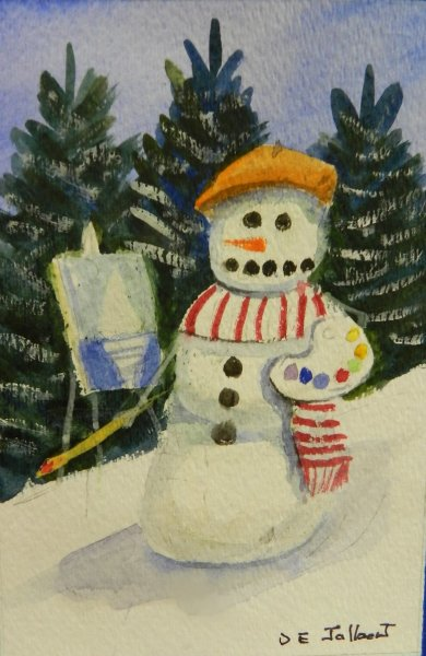 A Snow person artist
