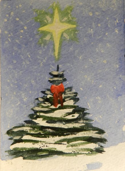 Christmas Tree with red bow