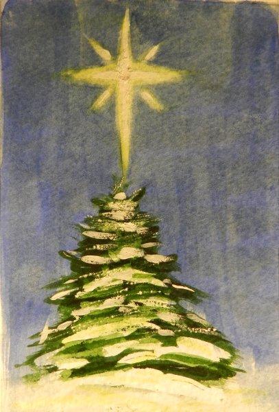 Christmas Tree 8 point star