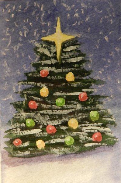 Christmas Tree Yellow Star