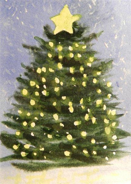 Christmas Tree Yellow Lights