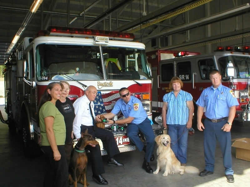 Pet oxygen masks donated to Fayetteville fire stations.