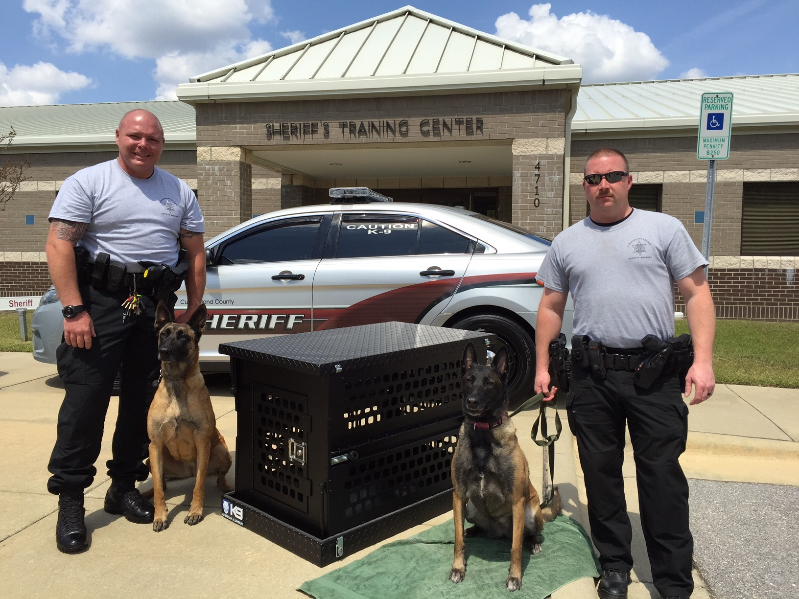 Crate donation to the K9 Unit of the Cumberland County Sheriff's Department