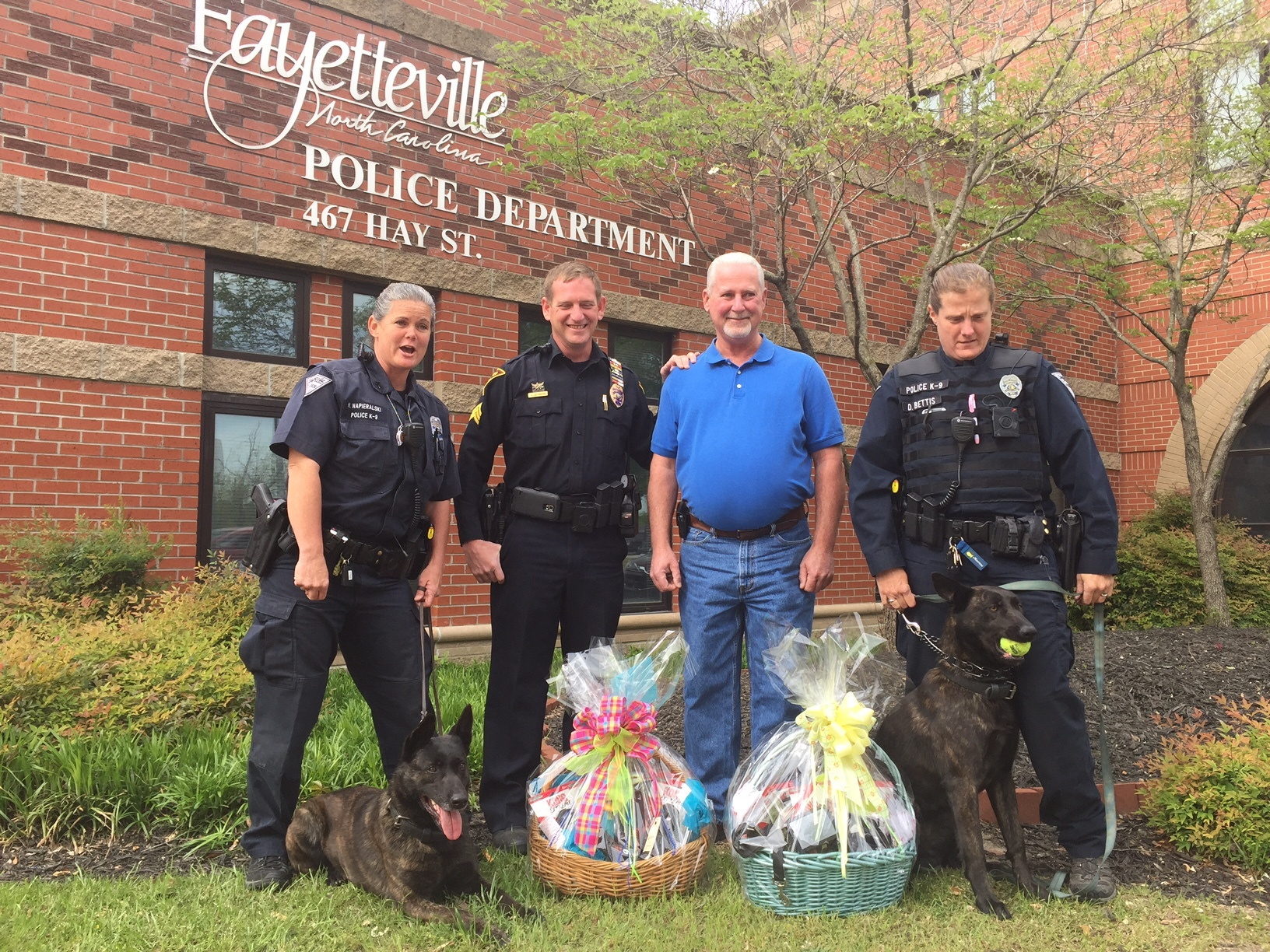 Donation to K9 Unit of the Fayetteville Police Depart