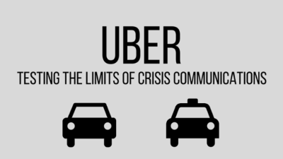 Uber – testing the limits of crisis communications