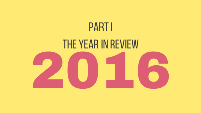 Part 1: The year in review