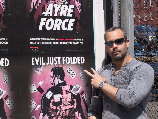 Adam and the Ayre Force release poster for Comic-Con New York