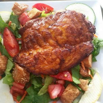 Blackened Grouper Salad