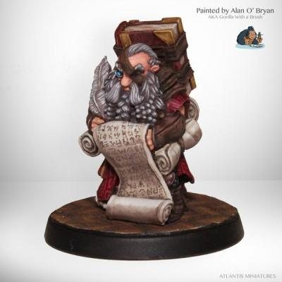 Dwarf Scribe by Atlantis Miniatures