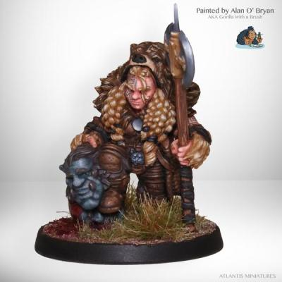 Dwarf Troll Slayer by Atlantis Miniatures [Part 2]