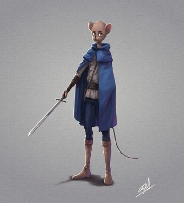 mice knight sword warrior