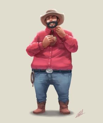 burger southern hat cowboy