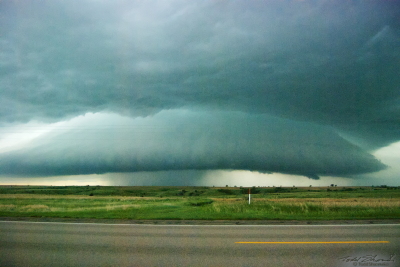 A low hanging shelf cloud is seen over southwestern Nebraska on June 4, 2008.