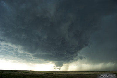 Vertical supercell structure seen in southeastern Colorado.