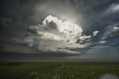 A new cumulus updraft, the building block of supercells, forms over central Kansas.