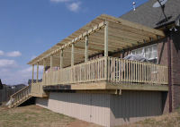 New deck with pergola-style roof