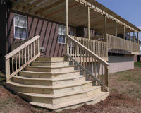 stairs wrap around deck corner