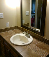 New look - decorative tile and cabinet
