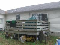 Deck before being rebuilt