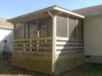 Rebuilt deck with screened in porch