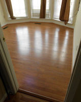 Laminate flooring replaces old floor