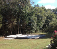Concrete pad poured for new building