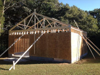 Shop framed and ready for roof