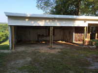 Car port before doors being added
