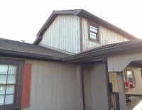 Exterior of house before being painted