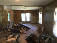 Interior of house being readied for remodeling