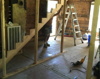 Stairs being added to attic