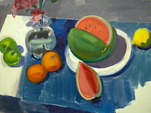 Watermelon, Oranges and Lemon