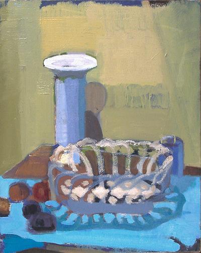 Vase and Ceramic Basket