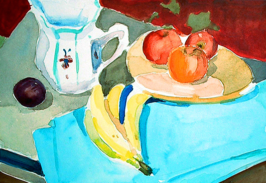 Still Life with Vase and Bananas