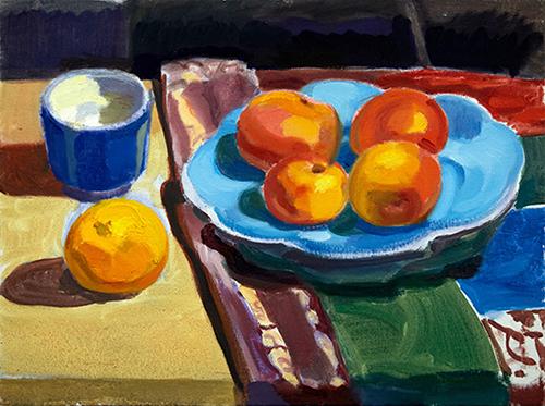 Four Apples and Orange