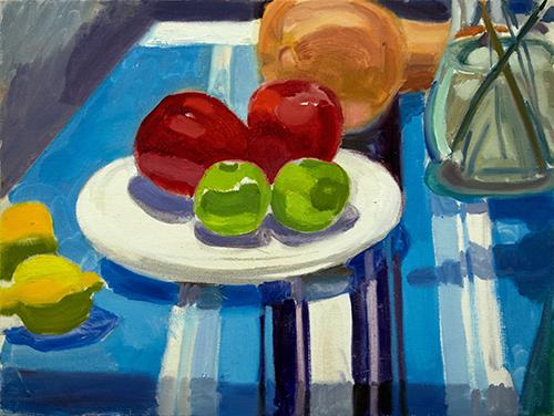 Four Apples, Lemons and Squash