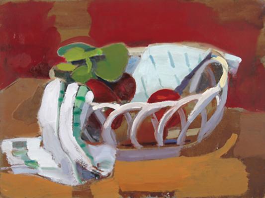 Ceramic Basket and Towel