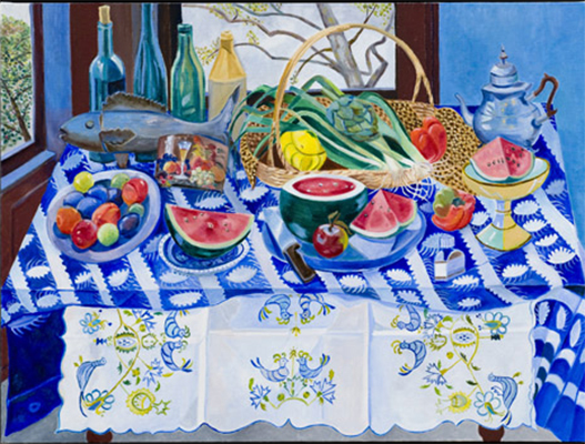 Blue Studio with Watermelons