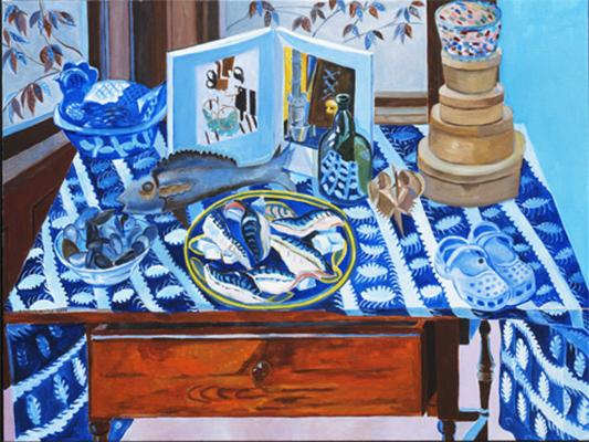 Blue Studio with Mackerel