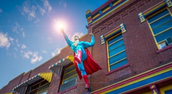 or bringing us the stars : Superman, of Metropolis