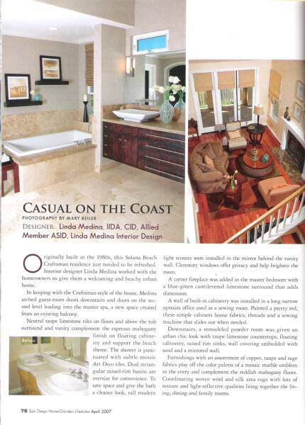 San Diego Home/Garden Magazine - April 2007